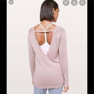 Lululemon Unity Drop Back Sweater Blush Small